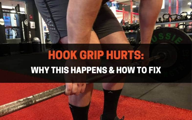 using the hook grip for deadlifts can hurt if you press your fingers only on the nail