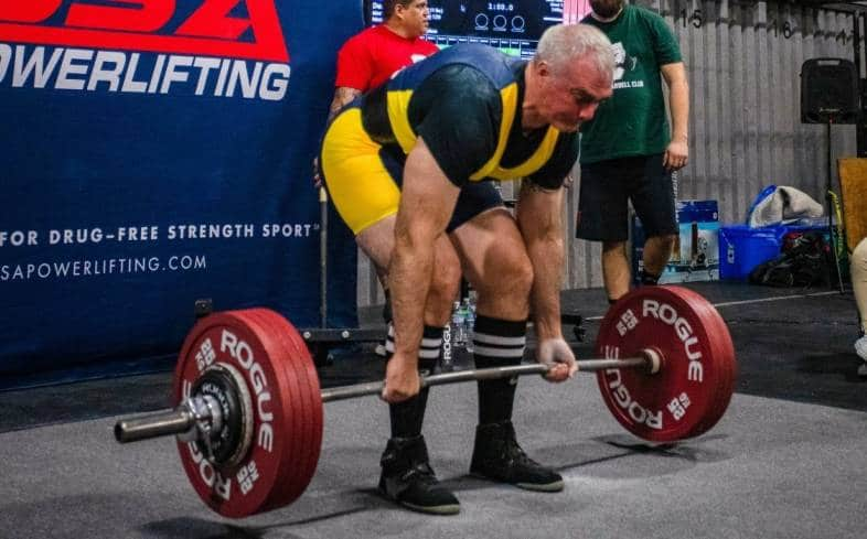 how strong do you need to be to compete in powerlifting at 50