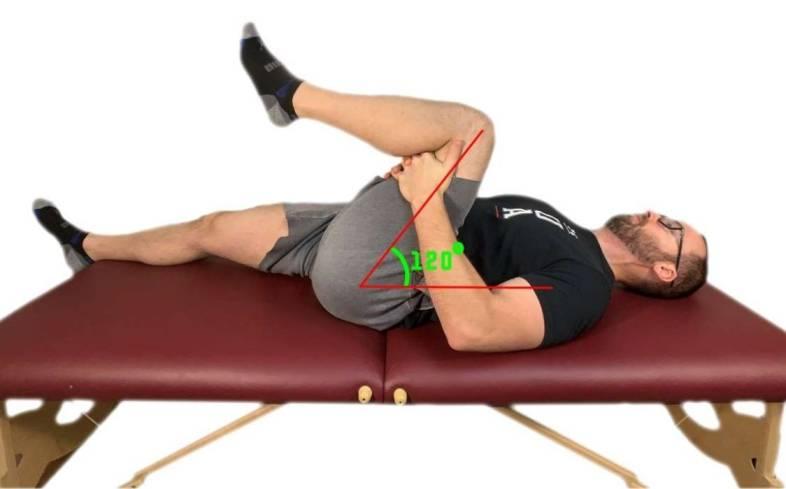 normal range of hip flexion