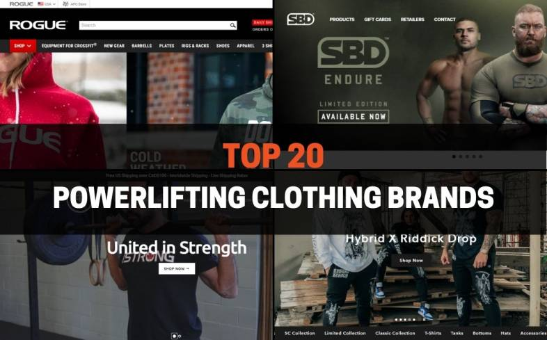 the 20 powerlifting clothing brands