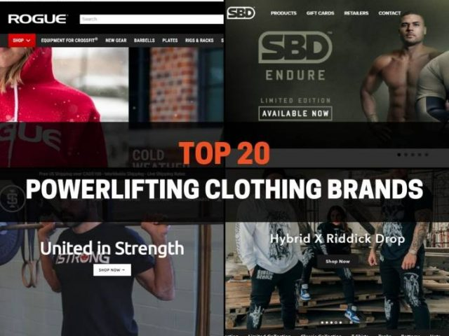 Top 20 Powerlifting Clothing Brands In 2021