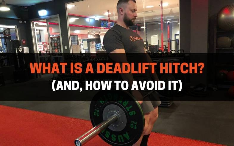 a deadlift hitch is when the bar is supported on the quads after the bar passes above the knees