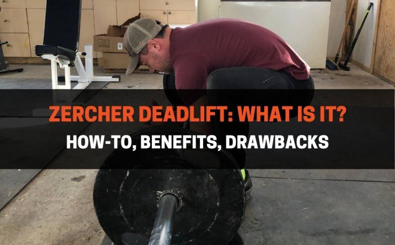 the Zercher deadlift is a deadlift variation that requires the barbell to be held in the crooks of the elbows