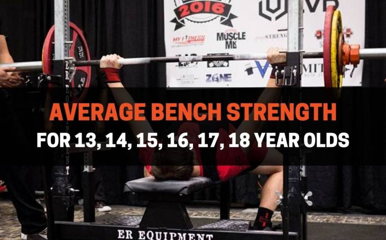 average bench press strength for 13, 14, 15, 16, 17, 18 year olds