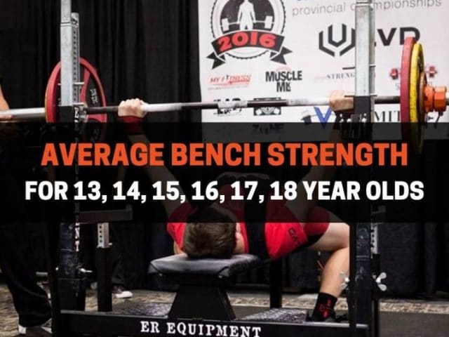 Average Bench Strength For 13, 14, 15, 16, 17, 18 Year Olds