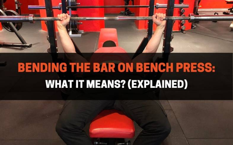 the cue bending the bar in the bench press helps create tension in the upper body by squeezing the hands and engaging the lats