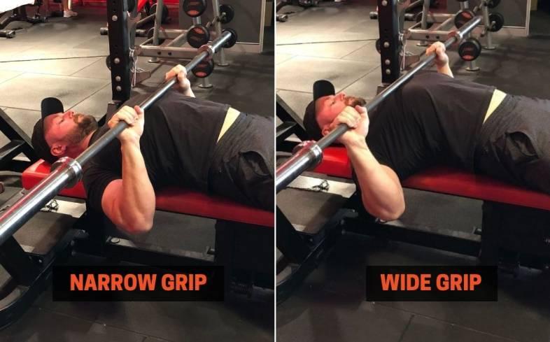 choose an appropriate grip width