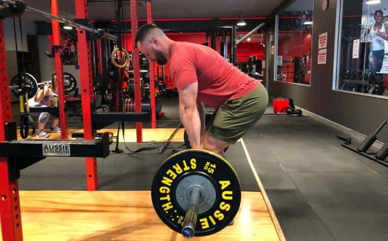 setting your hips too low or too high and creating a suboptimal back angle is a mistake in deadlift