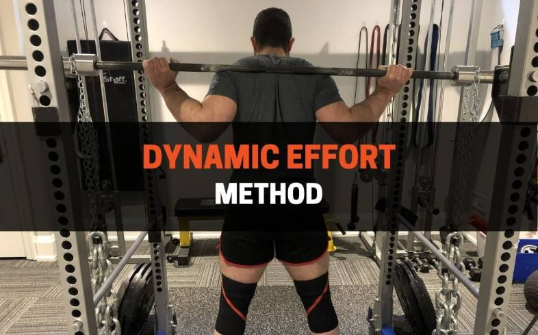the dynamic effort method of training is defined as lifting a submaximal weight with maximal effort