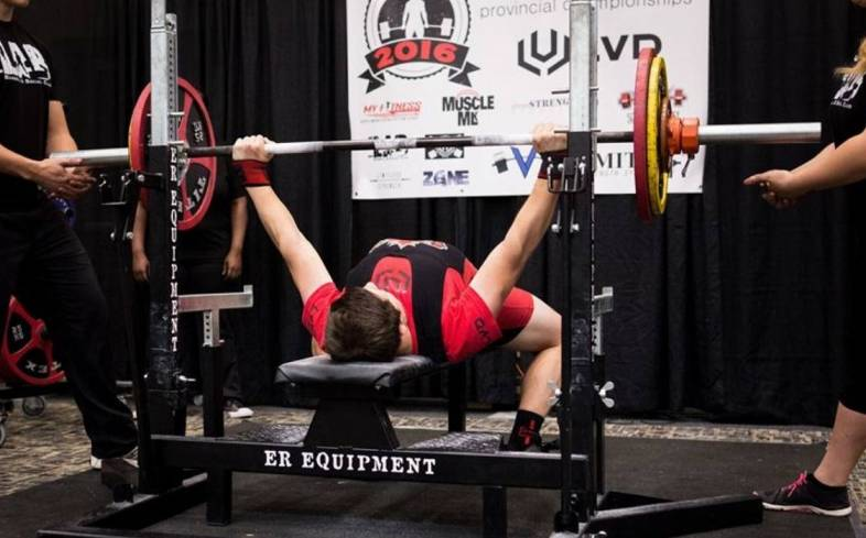 how does bench press strength vary among 13 to 18 year olds