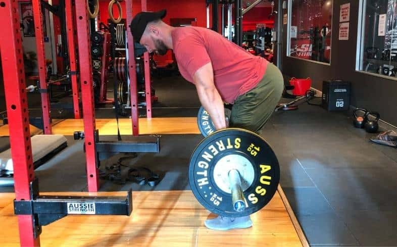 in deadlift a lot of your strength will come from thinking about pressing into the ground