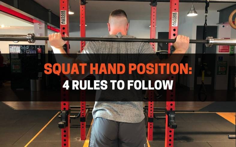 the best hand position for squats and the general rules to follow