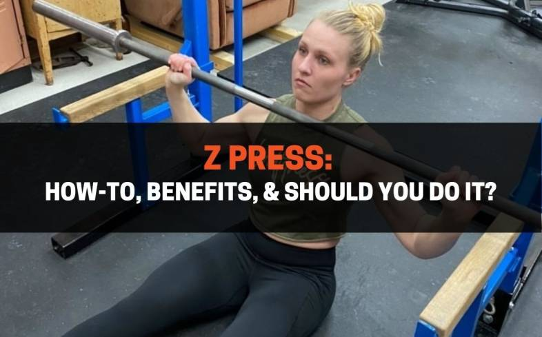 the z press is an overhead press variation that is performed from a seated position