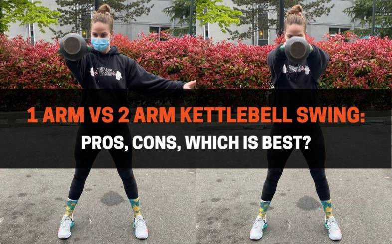 the differences between the 1 arm vs 2 arm kettlebell swing