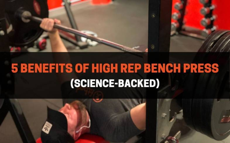 a high-rep bench press is a bench press that is performed with 8 or more repetitions per set