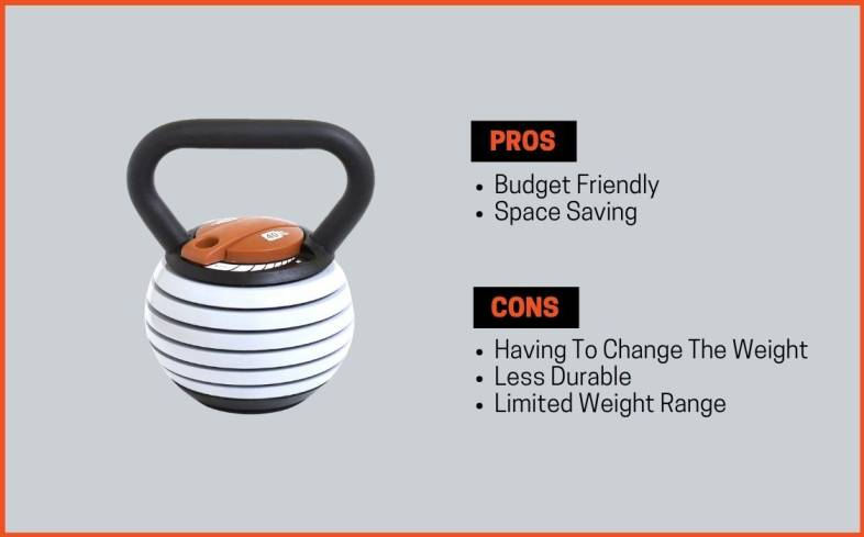 pros and cons of adjustable kettlebell