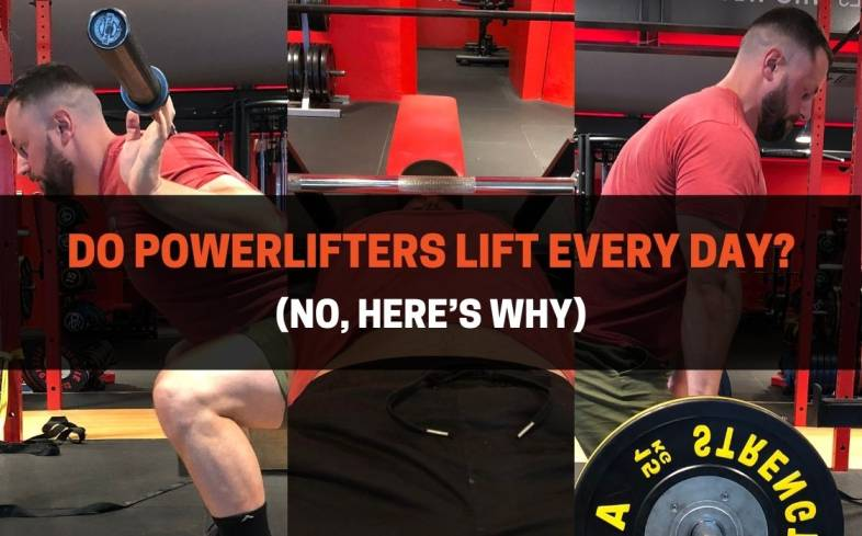most powerlifters will train between 3 to 5 times per week with some powerlifters training 6 times per week