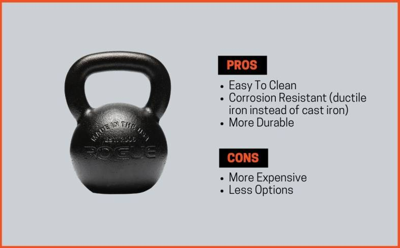 pros and cons of e-coat kettlebells