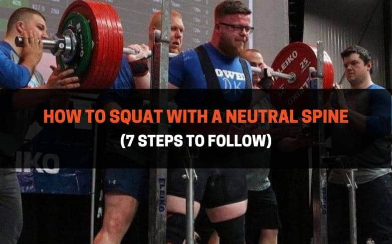 how to squat with a neutral spine