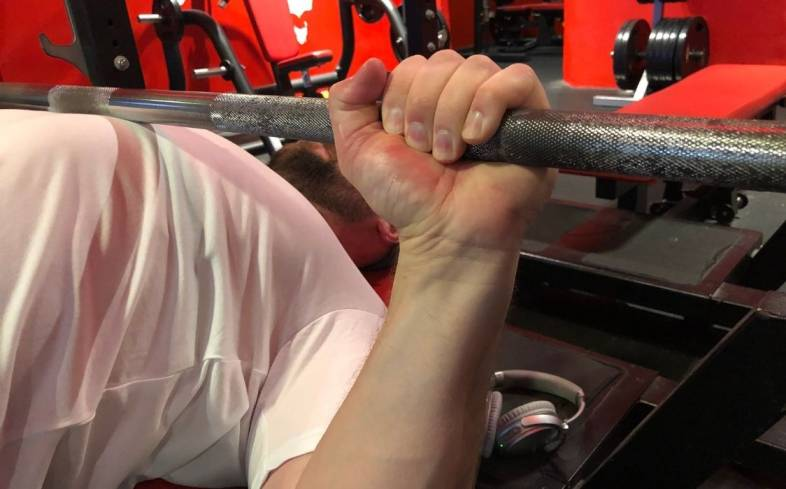 a common mistake with the bench is someone who's bar lands half an inch lower or higher on their chest with each passing rep