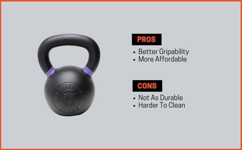 pros and cons of powder coat kettlebells