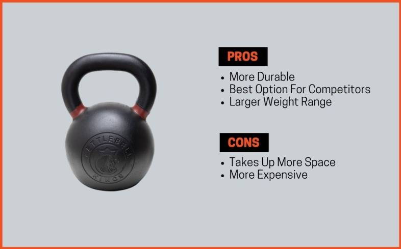 pros and cons of standard kettlebell