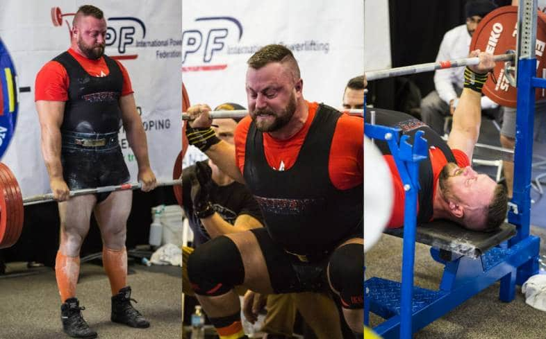 three flight powerlifting competitions