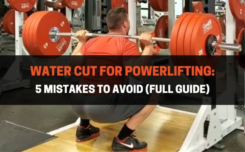 a water cut for powerlifting is accomplished by a brief period of water loading
