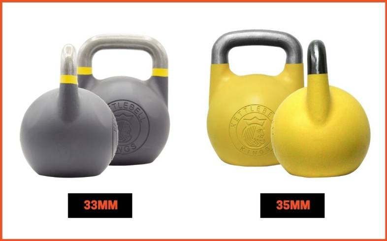considerations you need to make when deciding between the 33mm vs 35mm kettlebell