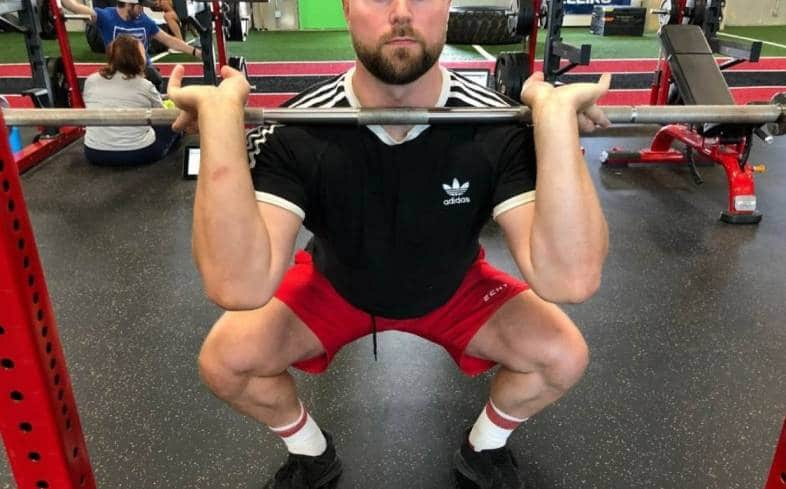Front squats are a great tool for building the quads as well as core and back strength