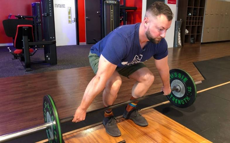 The deadlift shin angle is the angle between your shank and the floor in the start position of your deadlift