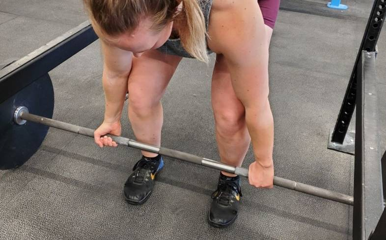 step 3 - grip the barbell