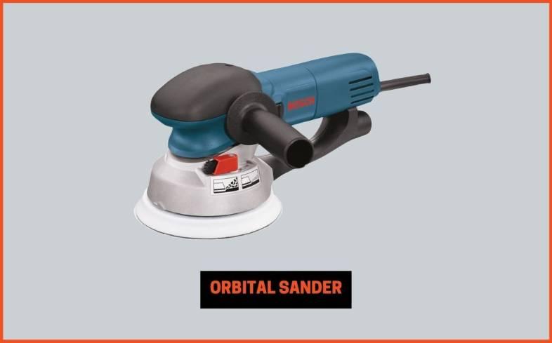 orbital sander to speed up the sanding process