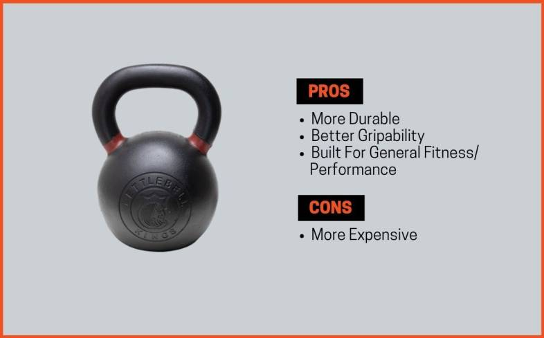pros and cons iron kettlebells