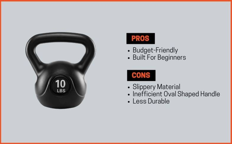 pros and cons plastic kettlebells