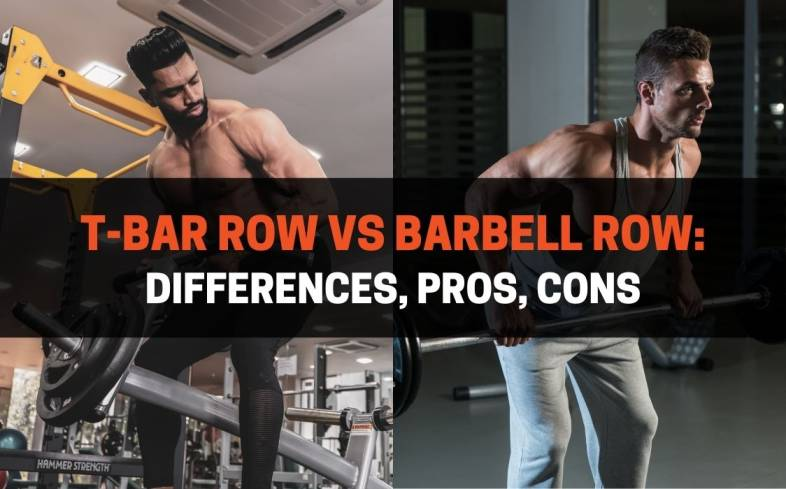 what is the difference between the t-bar row and barbell row