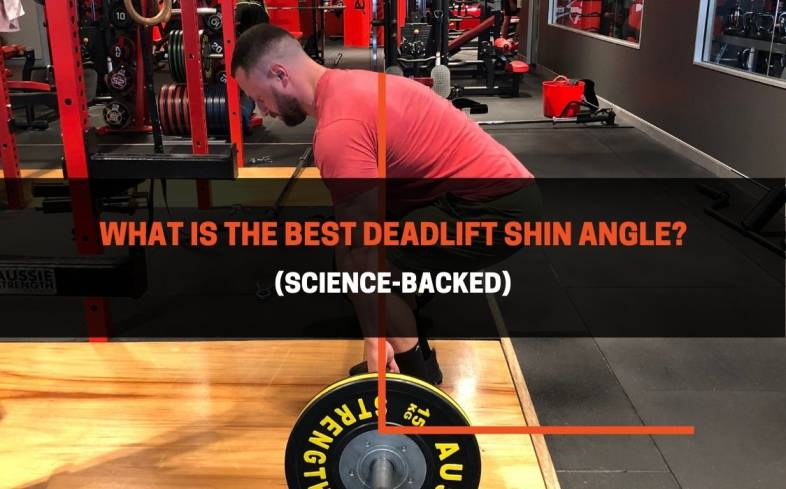 the shin angle is defined as your shank position lower leg in relation to the floor