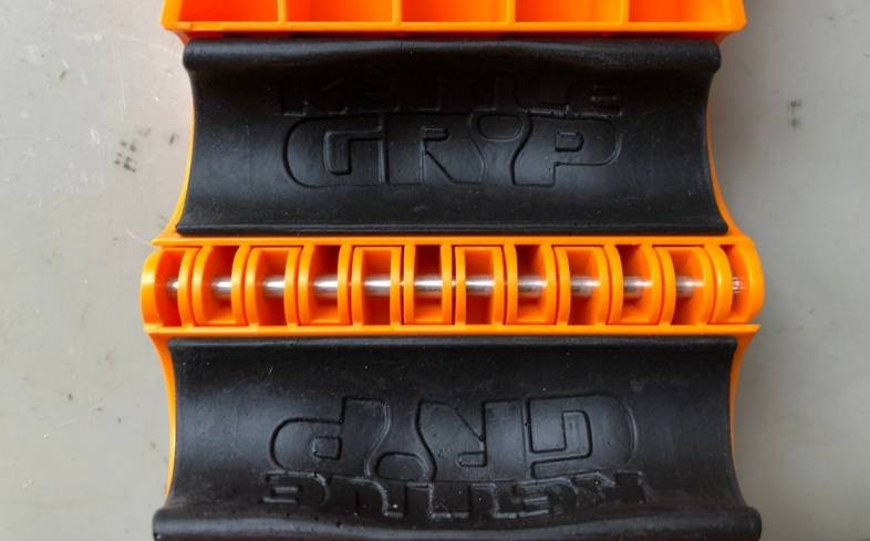the kettle gryp's foam insert is flexible enough to fit most dumbbells on the market