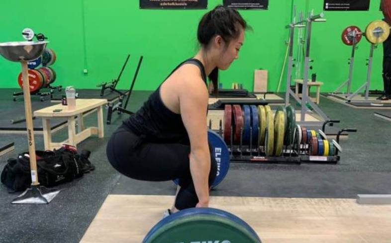 if you deadlift with your hips too low, you may find yourself shoving your hips up as you are about to execute