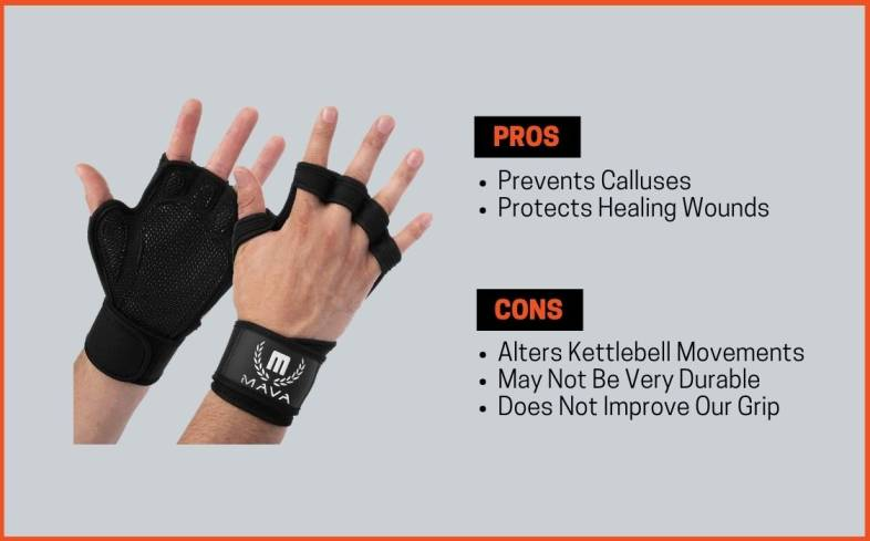 pros and cons of kettlebell gloves