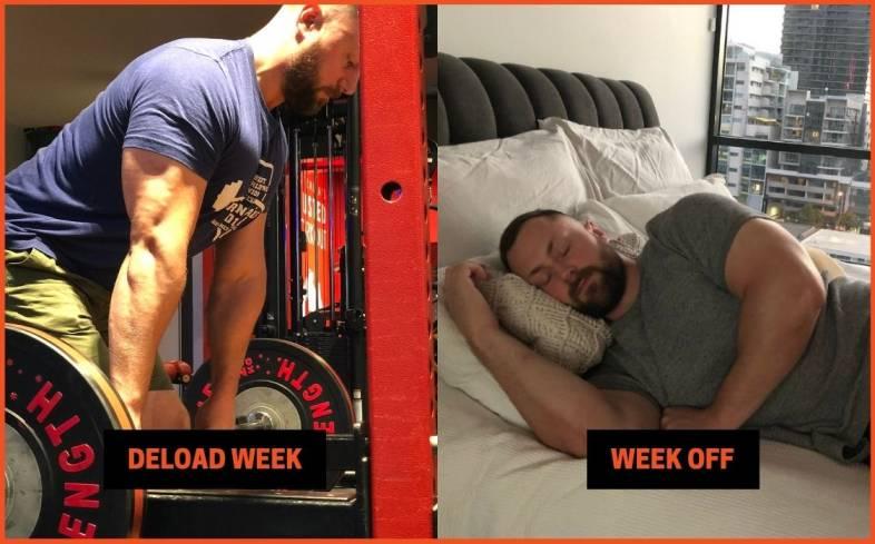 differences between a deload week vs week off