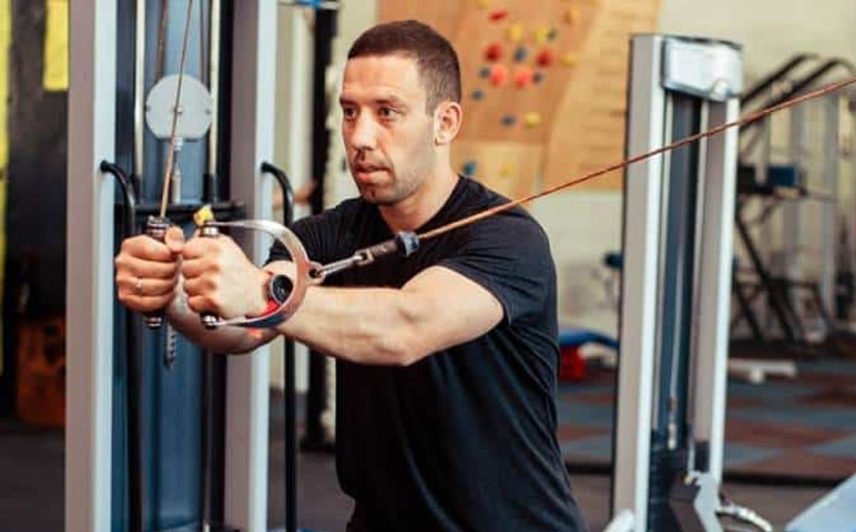 cable flys are an extremely effective machine alternative to the dips by targeting the pecs in varying degrees