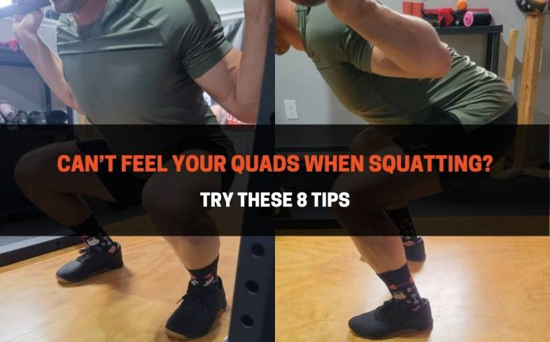 8 tips to help feel your quads while squatting