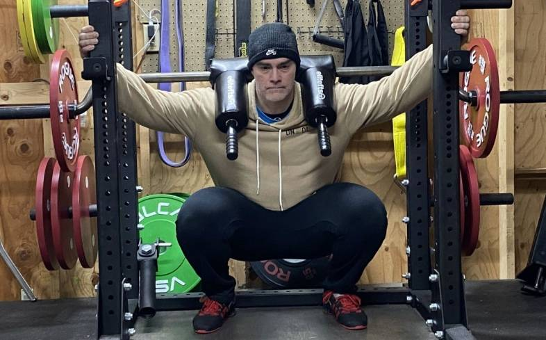 the hatfield squat is a squat variation that uses a safety bar squat