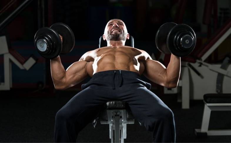 the neutral grip dumbbell press places less of an emphasis on shoulders, while placing a greater emphasis on inner pecs and triceps