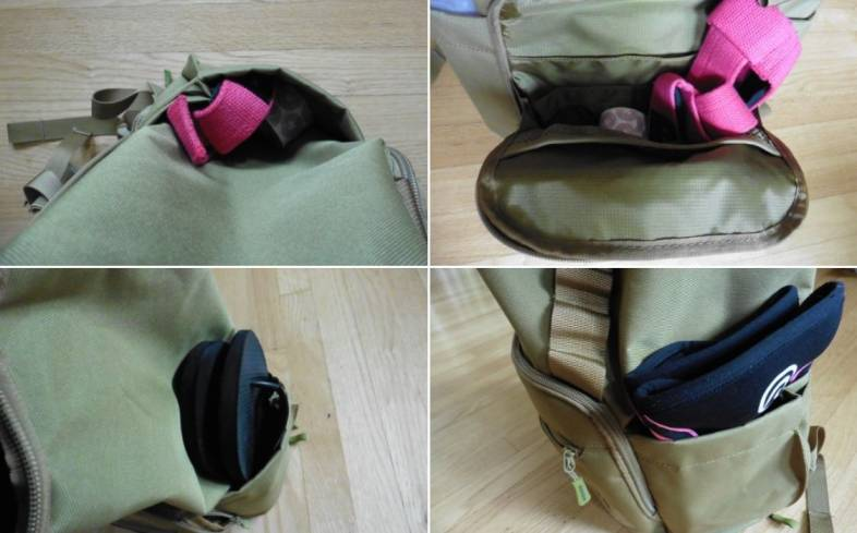 A bag with multiple pockets will keep your items organized
