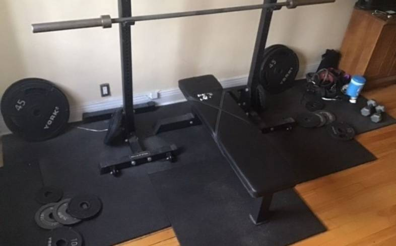 how to protect your floor under a squat rack