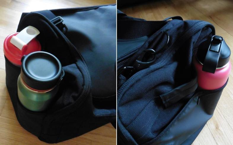 both sides of the King Kong EDGE45 Duffel bag have a dual-slotted pocket