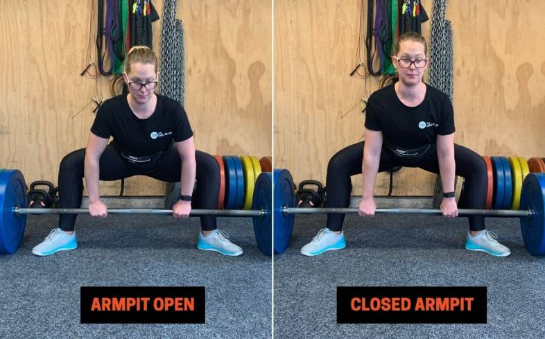 cueing 'close your armpits' is a great way to engage the lats and create upper body tightness