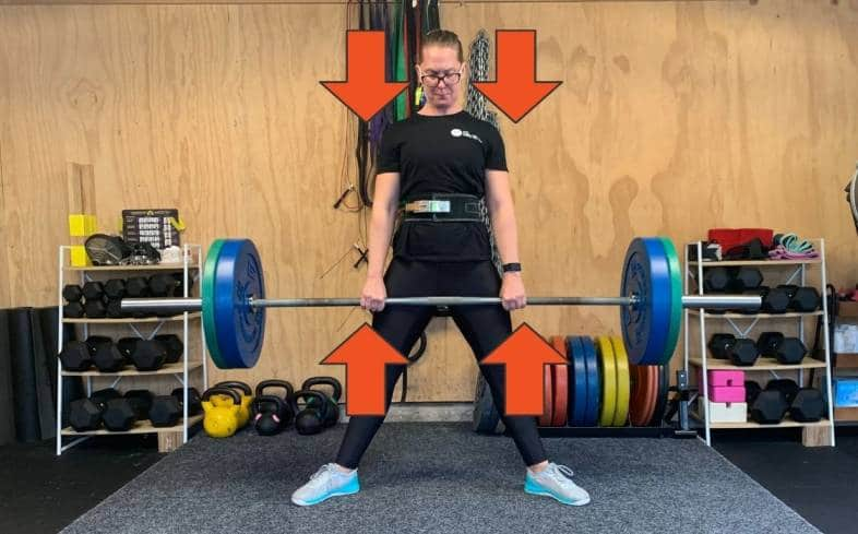 patience off the floor is intended to help lifters who rush their lift before they have achieved maximum whole body tension